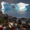 الجبال الجليدية العائمة في جزيرة غرينلاند