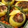 البطاطا المحشيه بالدجاج والجبنه والفلفل
